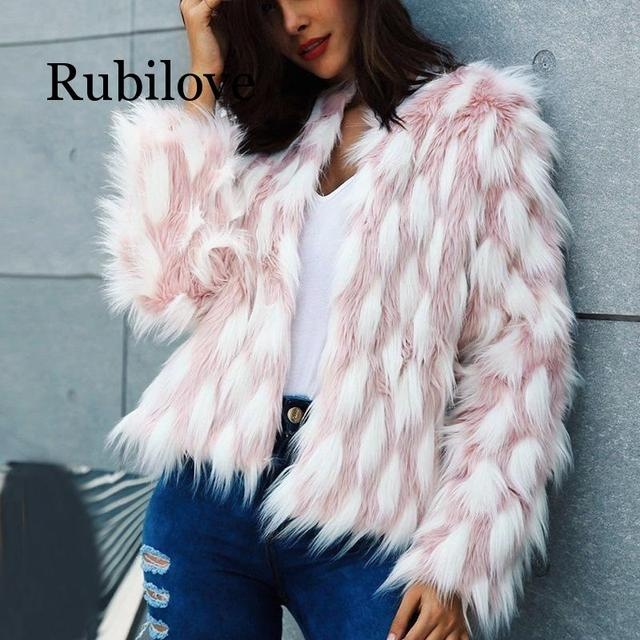Пушистое теплое пальто из искусственного меха женское короткое зимнее пальто из искусственного меха женские осенние вечерние повседневны...
