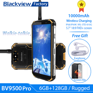 """Image 1 - BLACKVIEW BV9500 Pro IP69K Walkie Talkie 5.7""""18:9 FHD Smartphone Android 8.1 6+128GB 10000mAh wireless charging mobile phone NFC"""