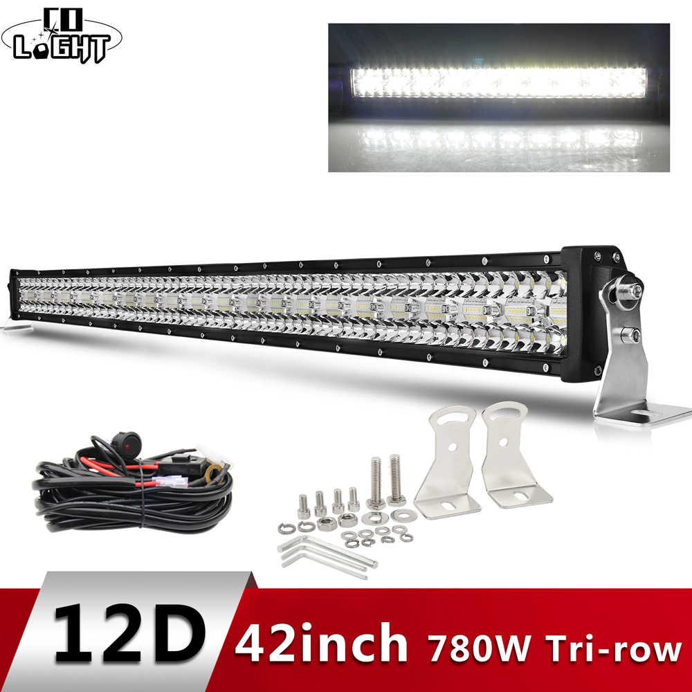 شارك ضوء 12D عالية الطاقة 3-صف عمود إضاءة led الطرق الوعرة 12V 390W 585W 780W 936W 975W كومبو شعاع 4x4 قضيب مصابيح عملي للشاحنات مركبة SUV قارب