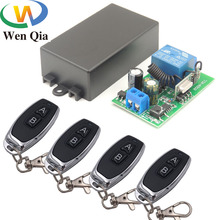 433MHz Universal Remote Control AC 110V 220V 1CH rf Relay Receiver and Transmitter for Universal LED light and Door Controller