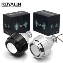 ROYALIN 2,5 дюймов мини би ксенон HID проектор фары линзы модифицированный Fit H4 H7 Автомобильная фара W/ging пистолет кожухи