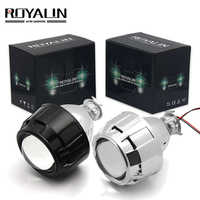 ROYALIN 2.5 cal Mini bi xenon ukrył reflektor projektora soczewki doposażenie Fit H4 H7 przedni reflektor samochodowy W/bramkowanie Gun całuny