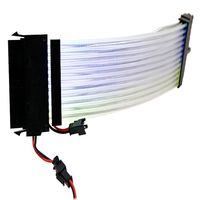 Rainbow RGB Power Extension Cable for 24Pin to Motherboard or 8Pin+8Pin GPU/Transfer Cable for PC Computer Laptop Accessories