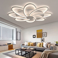 Белая акриловая современная люстра для гостиной  спальни  пульт дистанционного управления  светодиодная лампа для дома  освещение с регули...
