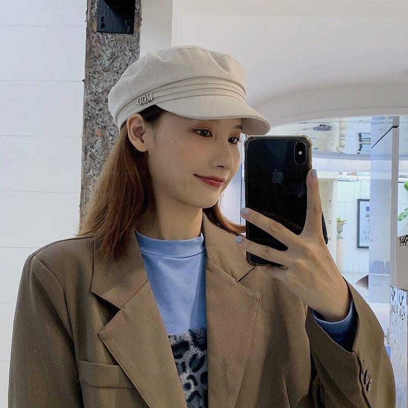 Восьмиугольная кепка Женская британская ретро летняя тонкая Кепка корейская модная универсальная кепка газетчика в японском стиле