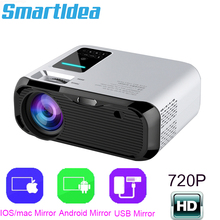 Smartldea 새로운 720 p hd 와이파이 프로젝터, 네이티브 1280*720 p, 미러 프로젝터, 미니 led 비디오 proyector 홈 비디오 비머 동기화 디스플레이