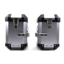 36L 46L Universal Motorcycle Saddlebags Storage Trunk Side Luggage Cases Key Lock Tool Box Toolbox Saddle Bag Aluminum Accessory