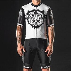Rocha ciclismo jerseys terno dos homens conjunto de verão roupas da equipe corrida pro bicicleta maillot bicicleta conjunto camisa ropa hombre