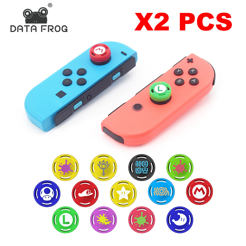DATA FROG 2PCS Grip Cap for Joy Con Gamepad Silicone Thumb Stick  Analog Caps for Nintend Switch NS JoyCon Controller Accessorie