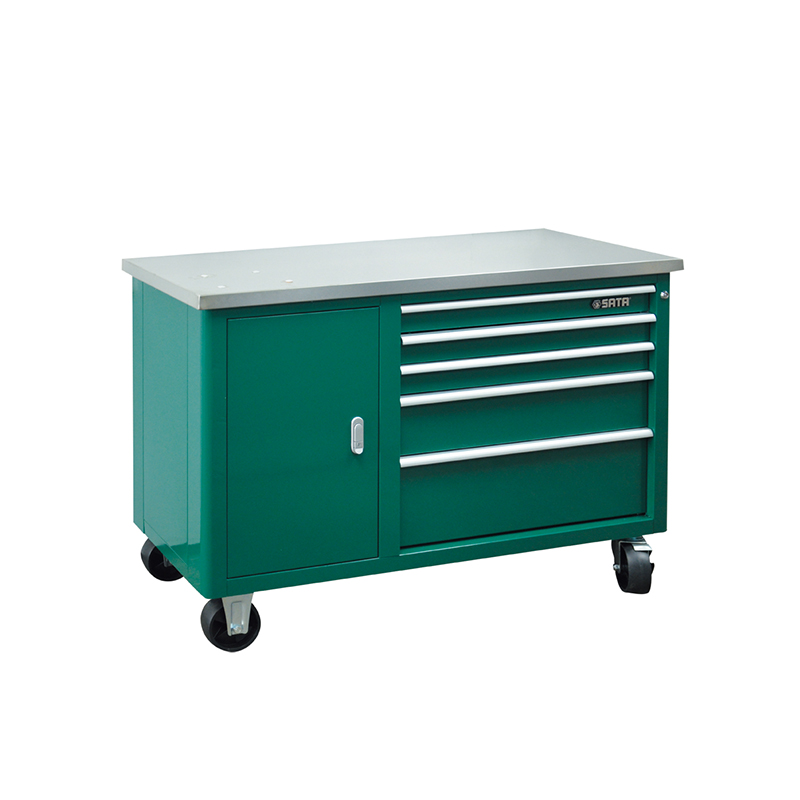 SATA 95208 For Tools. Trolley (1180x480x860) 5 Retractable. Trays. 1 Opening. Box. Multifunction Trolley With Wheels