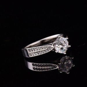 Image 3 - Geoki Passed Diamond Test Moissanite 925 Sterling Silver Star Starlight Queen Ring Round Perfect Cut Wedding Gem Ring for Women