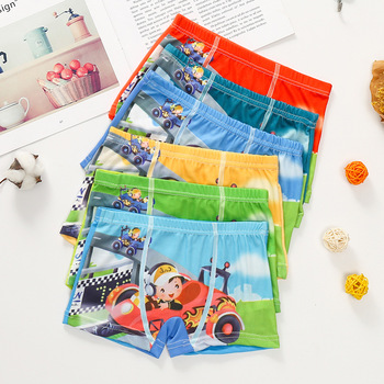 10pcs/Lot Boys Boxer Briefs Kids Underwear Baby Boy Underpants Cartoon Print Soft Children Panties 2-9 years Super Hero 2020 New - Random color 2, 11T