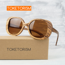 Toketorism vintage woman glasses polarized anti glare lenses wood sunglasses 0303