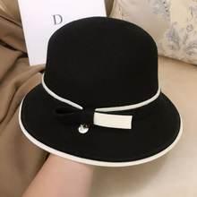 Qpalcr шерстяная фетровая шляпа для женщин Ретро зимние женские