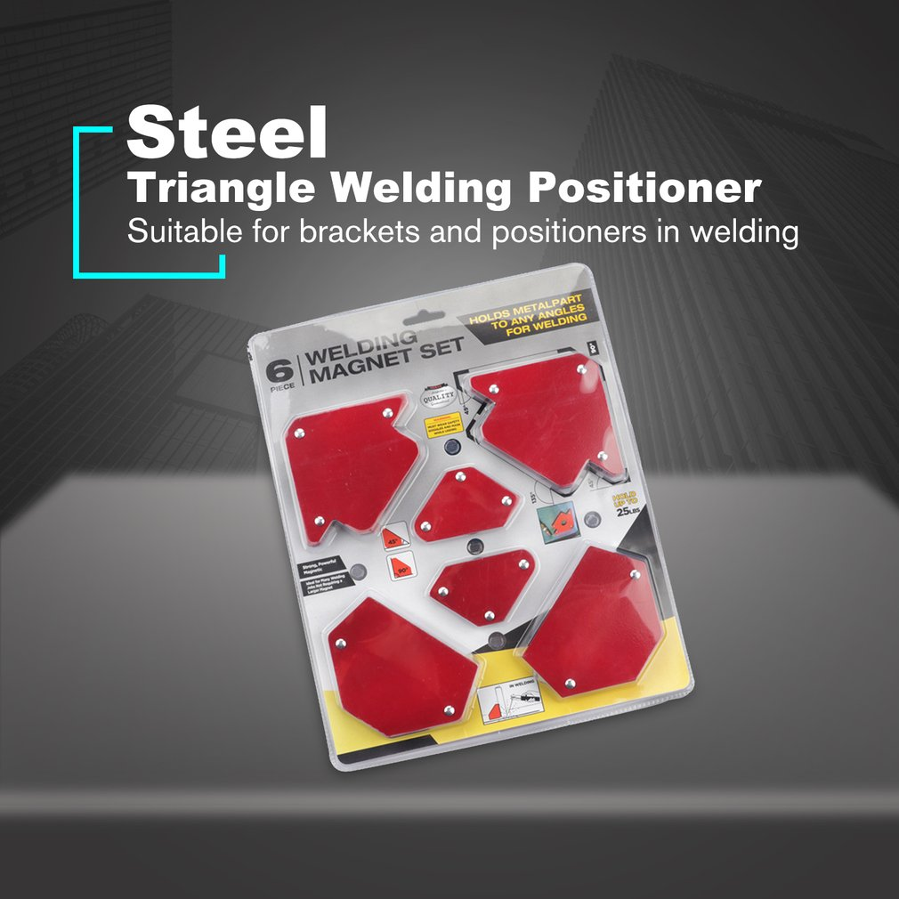 6pcs Welding Triangle Locator Welding Positioner Without Switch Multi-specification Magnetic Fixed Angle Tool Welding Set