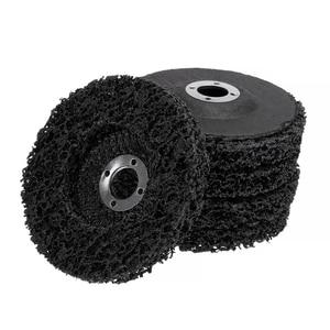 Image 3 - 5 adet poli şerit diskli tekerlek araba boyası pas temizleme Clean açı öğütücü aşındırıcı diski 100*16mm açı öğütücüler için