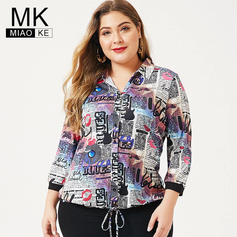 MK 2019 Autumn Plus Size Womens Long Sleeve Pastel Goth Tops And Blouses Fashion Ladies Femal Vintage Elegant Shirt Blouse