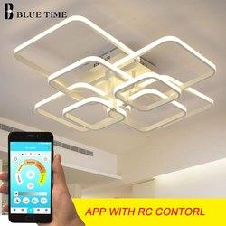 Iluminación LED de araña moderna para sala de estar dormitorio comedor sala de estudio blanco negro café LED lámpara de araña AC 110-220V