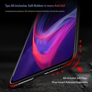 Image 5 - Funda de cristal de lujo para Redmi 7A funda de silicona de vidrio templado 9H funda de teléfono híbrida para Xiaomi funda de Redmi 7