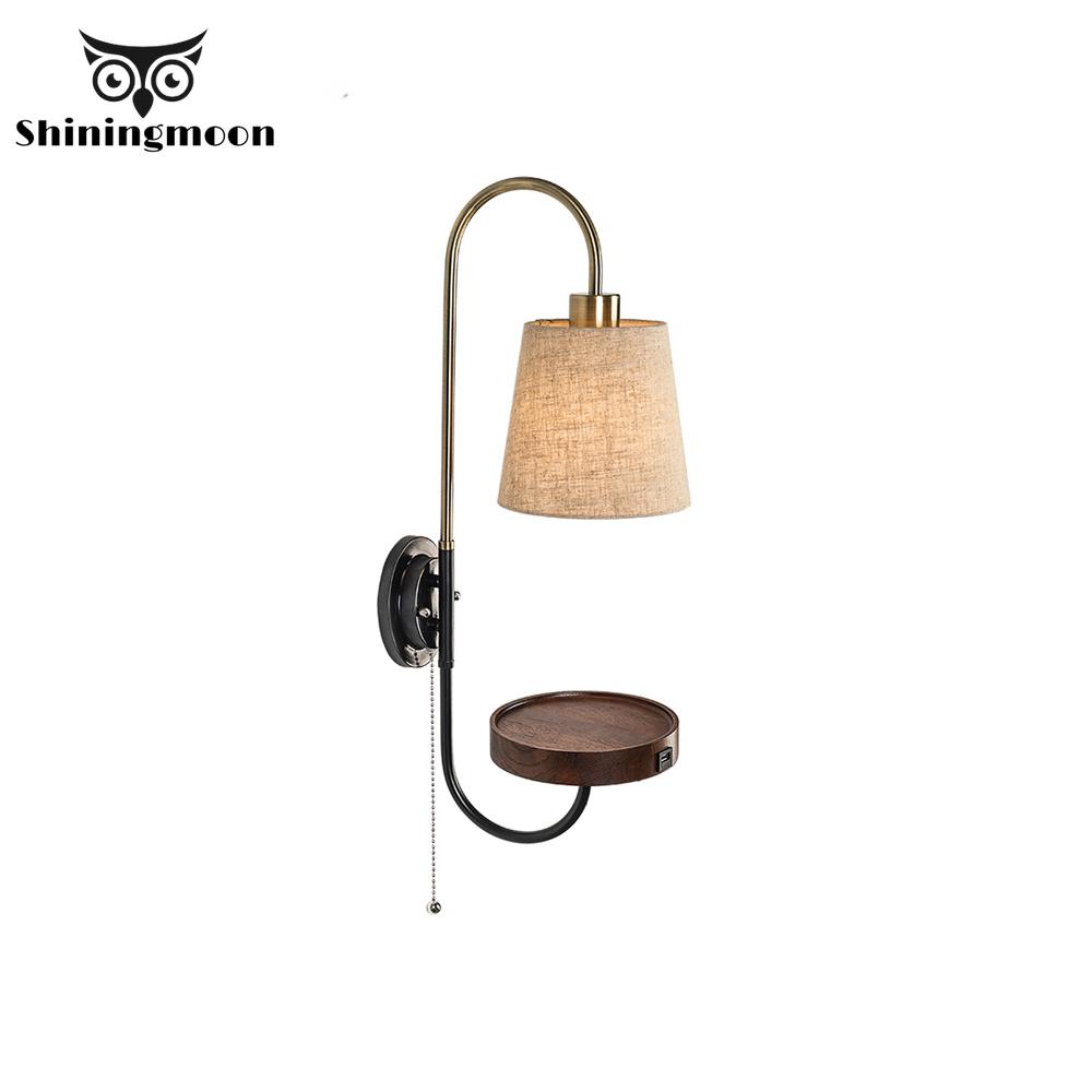 Nordic Iron LED Wall Lamps Fabric art Bedside Reading wall lamp Hotel Corridor wall sconce lamp bathroom wall candlle lights