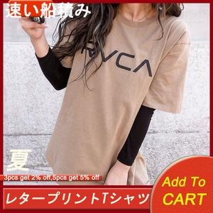 Casual feminina carta impresso t-shirts topos verão manga curta coreano janpanese casual feminino camisetas