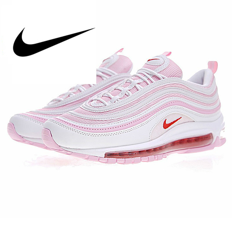 US $55.0 45% OFF|Original Authentic 2019 New Arrival Nike AIR MAX 97 OG Women's Running Shoes Sports Outdoor Sneakers Shock Absorbing 313054 161 in