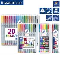 German STAEDTLER 334 Fiber Pen 4/15/20/30/42/50 Colour Set Colour Sketch Pen 0.3mm Triangular Rod Writing Brush