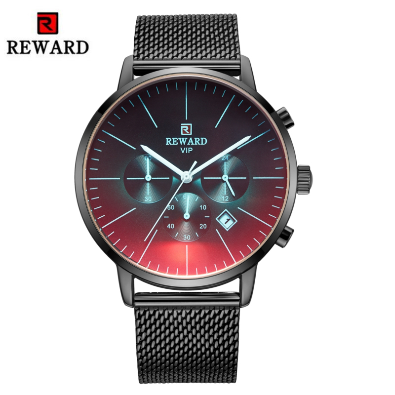 2019 New Fashion Watch Men Top Brand Luxury Chronograph Sport Men's Watch Color Bright Glass Clock Waterproof Men Wrist Watch