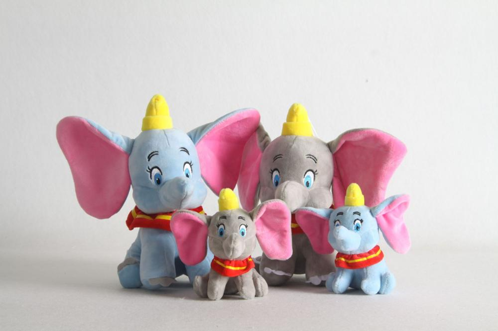 1pcs 15/25cm Cute Elephant Plush Toy Doll Dumbo Plush Pendant Clip Soft Stuffed Animals Toys For Kids Children Xmas Gifts