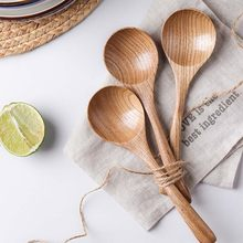 Tropical Coconut Palm Wood Cutlery Natural Wooden Coconut Spoon Small Honey Spoon Soup Spoon Solid Wood Porridge Spoon(China)