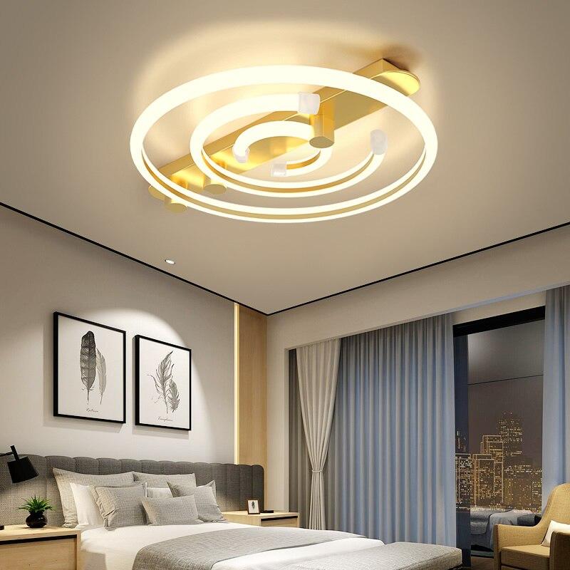 NEO Gleam Modern Led Ceiling Lights For Living Room Bedroom Study Room White/Black/Gold Color Ceiling Lamp Fixtures 90-260V