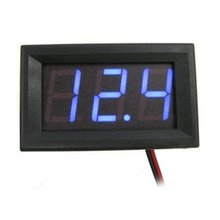 Two Line Dc Voltage Meter 0.56 Inch Reverse Connection Protection Square High-precision Led Digital Voltmeter