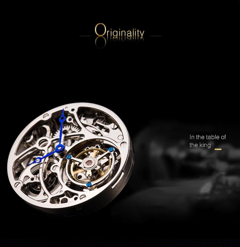 água 2019 homens esqueleto relógio mecânico marca