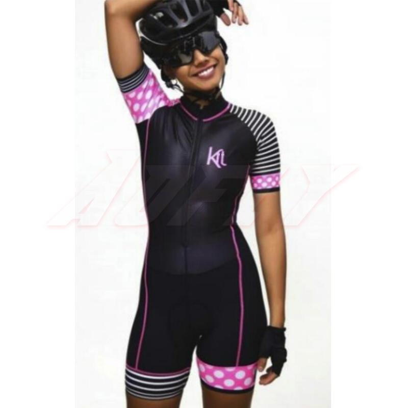 Pro Team Triathlon Suit Women's Long Sleeve Cycling Jersey Skinsuit Jumpsuit Maillot Cycling Ropa Ciclismo Set Swimming Exercise