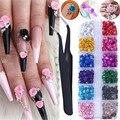 120/240 шт Розовое 3D цветок ногтей товары для рукоделия акриловые цветы для украшения ногтей, аксессуары для ногтей, украшения для маникюра с щ...
