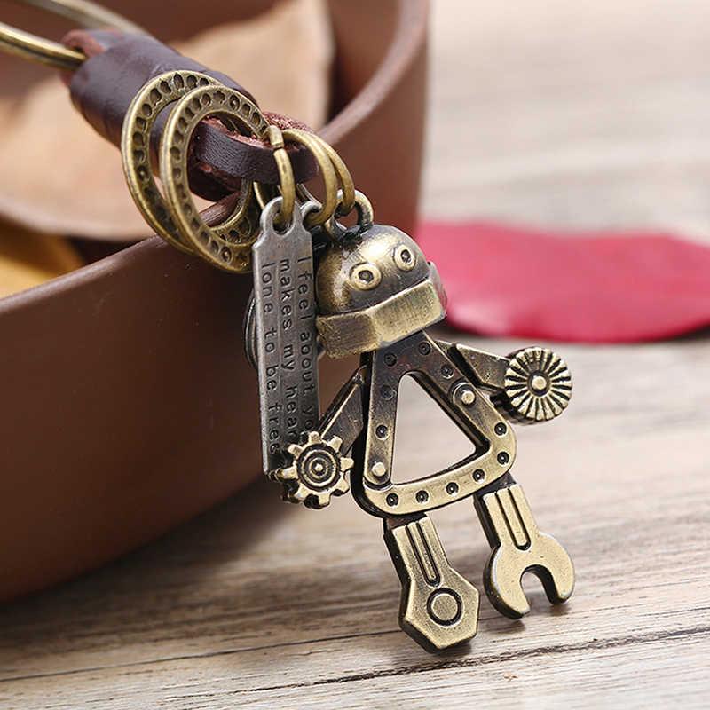 Novo presente de aniversário chaveiro chaveiro robô jóias saco charme pingente masculino chave do carro titular