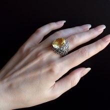 Дропшиппинг большое кольцо с золотистым фианитом Кольцо защитой