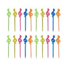 Fruit-Forks Fruit-Platter-Decoration Creative Bar KTV Heart-Shaped Disposable Colorful