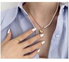 Ожерелье из натурального жемчуга в форме сердца дизайнерское