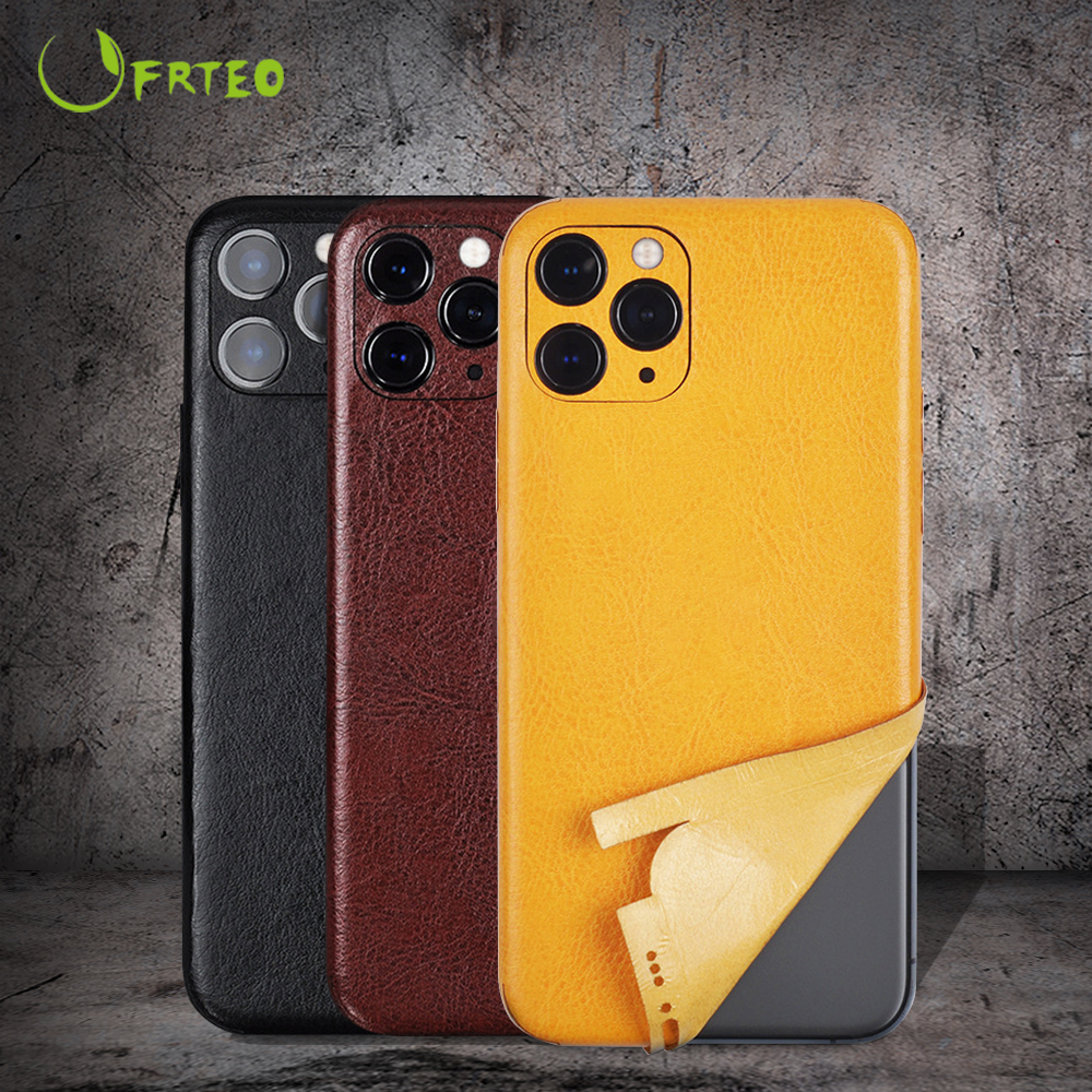 2021 NEW Microfiber Leather Phone Back Cover Sticker For iPhone 11 11 Pro Max All-inclusive 360 coverage Sticker Skin For iPhone