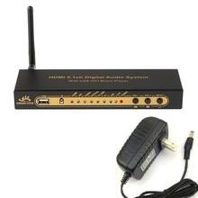 Decodificador de Audio HD851BT DTS AC3 5,1, Extractor de HDMI, 4K, ARC SPDIF, divisor óptico coaxial con Bluetooth, nuevo