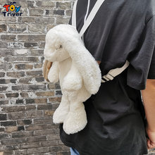 White Rabbit Backpack Japanese Kawaii Bunny Rabbits School Bag Plush Toy Kids Children Girl Girlfriend Birthday Christmas Gift(China)