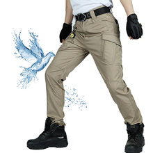 Pantalon militaire tactique IX7 pour hommes, pantalon Cargo de Combat à poches multiples, imperméable, entraînement en plein air, randonnée, alpinisme