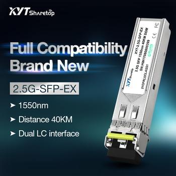 Sharetop 2.5G optical transceiver module single mode dual fiber SFP-2.5G-1550nm 40/60/80/100km dual LC port full compatible