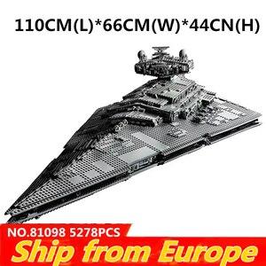 Image 1 - 05027 05132 81098 05028 UCS kuvvet Waken ölüm Imperial Star Destroyer savaşları yapı taşları Millennium gemi Falcon tuğla oyuncak
