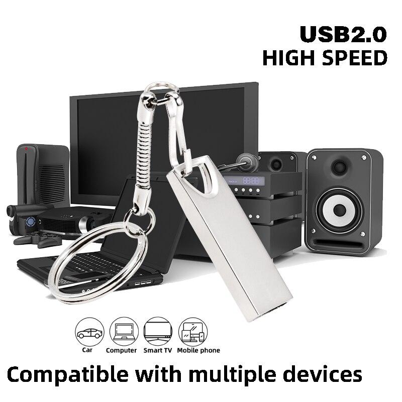 Metal USB 2.0 Drive Original Memory USB Stick Hot Sale Pendrive 8G/16G/32G/64G/128G (10 PCS Free LOGO)U Disk Gift Free Shipping