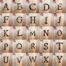 Акриловое зеркало 26, английские декоративные Эрудит наклейки в виде букв алфавита, свадебное украшение, настенные наклейки на дверь комнаты