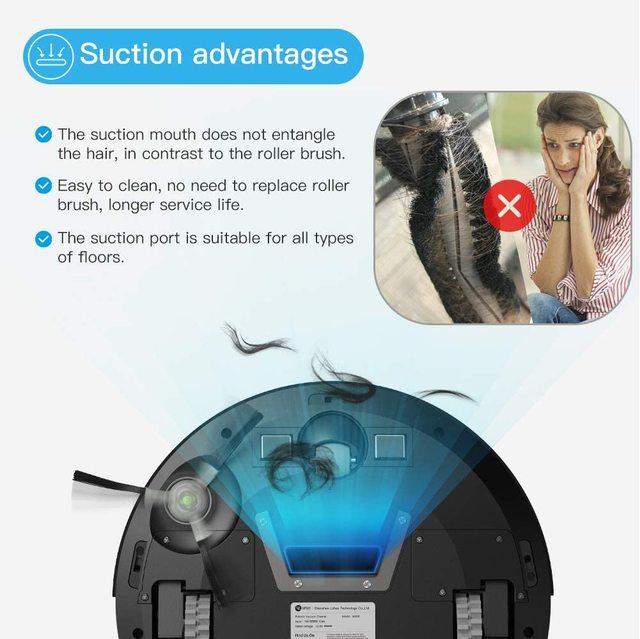 Lefant M201 Mini Robot Vacuum Cleaner For Home pet hair, hard floor, low pile carpets,super quiet 1800pa with WiFi/App/Alexa 4