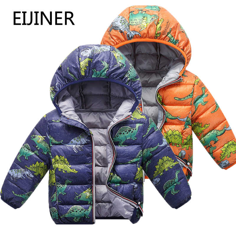 Camouflage Children Boys Jackets Winter Autumn 2019 Cartoon Dinosaur Girls Winter Coats Kids Outerwear Baby Boys/Girls Jackets