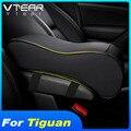 Vtear для VW Tiguan тигуан 2019 2020 MK2, аксессуары для автомобиля, подлокотник, коробка, кожаный коврик, подушка для автомобиля, центральная консоль, по...